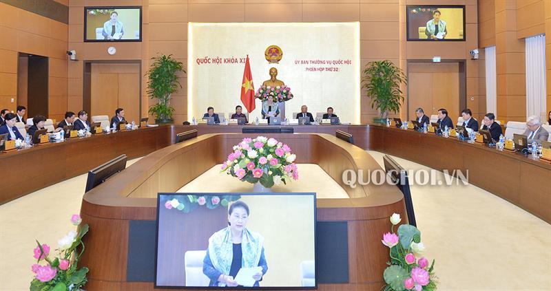Toàn cảnh Phiên họp thứ 32 của Uỷ ban Thường vụ Quốc hội.